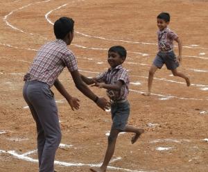 bare feet running boys