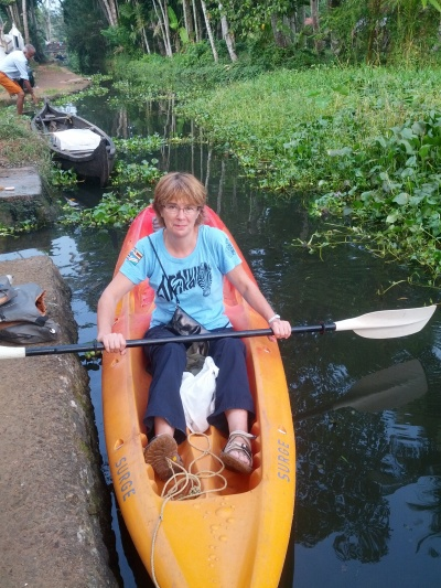 Exploring the Kerala backwaters by kayak