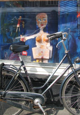 Bikes and bodies.  Quintessentially Amsterdam.