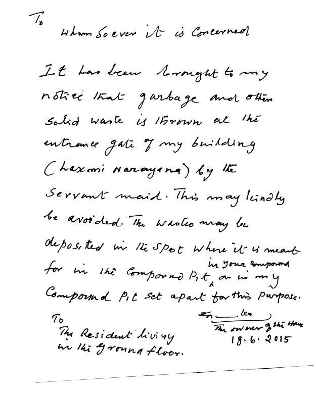 landlord letter