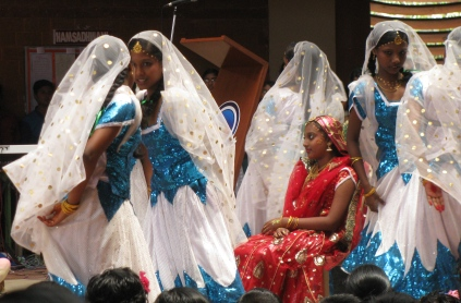 But the girls enjoyed their performance and kept the audience entertained.