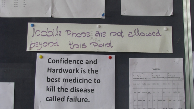 Hmmmm.... could not resist doing some corrections here, but I was very honest and signed it.... but then again, I am not sure whether there would ever have been any doubt about who would have done it, no one else would have spotted the mistake, and the includes the English teachers....