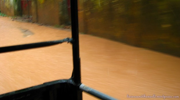 View from the auto-rickshaw...