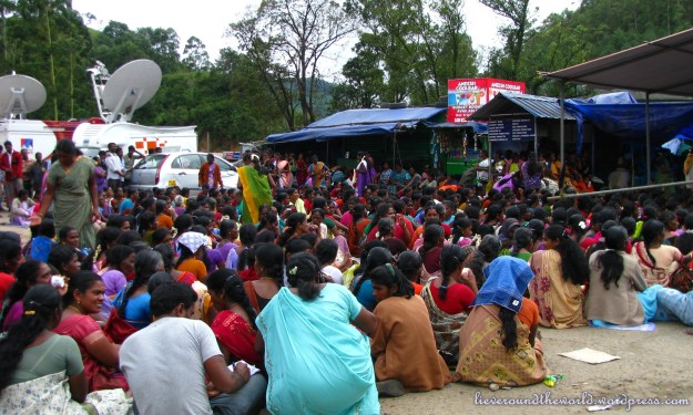 Tea workers on strike in Munnar